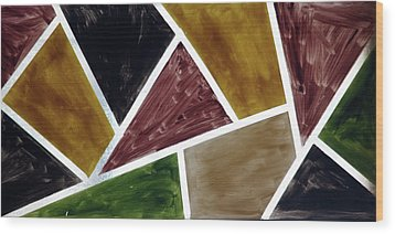 Coloured Glass Wood Print