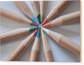 Coloured Pencils 2 Wood Print