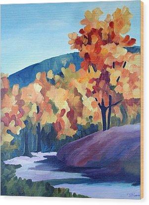 Colourful Autumn Wood Print by Carola Ann-Margret Forsberg