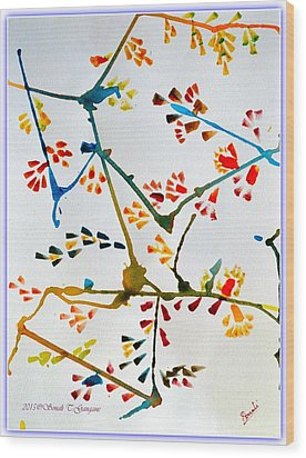 Colourful Blossoms Wood Print by Sonali Gangane