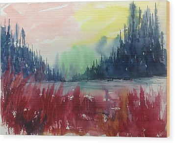 Colourful Forest No.1 Wood Print