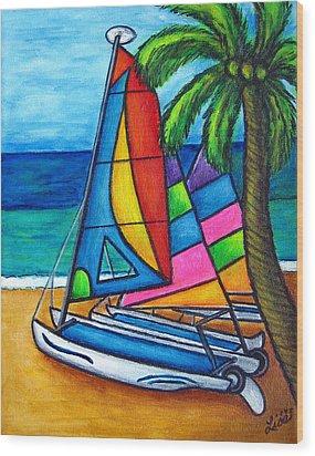 Colourful Hobby Wood Print by Lisa  Lorenz