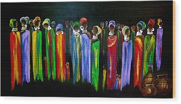 Colourful South Africa Wood Print by Marietjie Henning