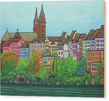 Colours Of Basel, Switzerland Wood Print by Lisa Lorenz