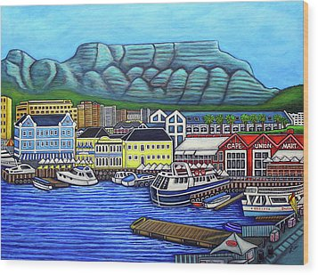 Colours Of Cape Town Wood Print by Lisa Lorenz