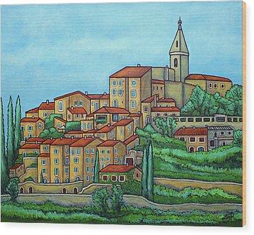 Colours Of Crillon-le-brave, Provence Wood Print by Lisa Lorenz