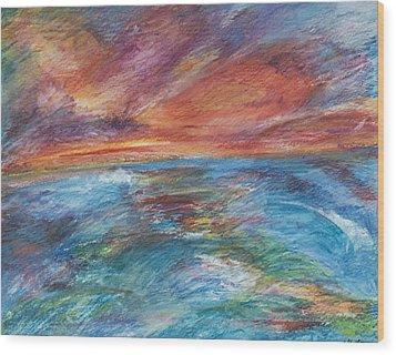 Colours Of The Sea 8 Wood Print