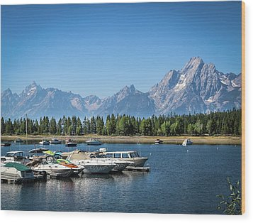 Colter Bay Wood Print by EG Kight