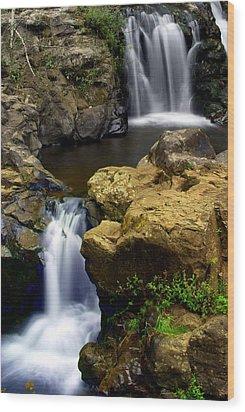 Columba River Gorge Falls 2 Wood Print by Marty Koch