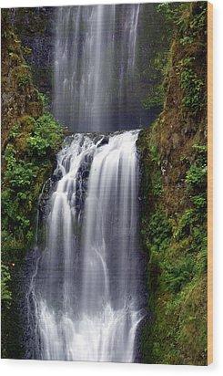 Columba River Gorge Falls 3 Wood Print by Marty Koch