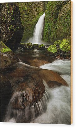 Wood Print featuring the photograph Columbia Cleft by Mike Lang