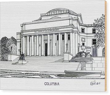 Columbia Wood Print by Frederic Kohli