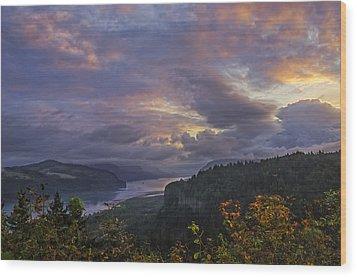 Columbia Gorge Sunrise Wood Print