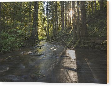Columbia Gorge Sunrise Wood Print