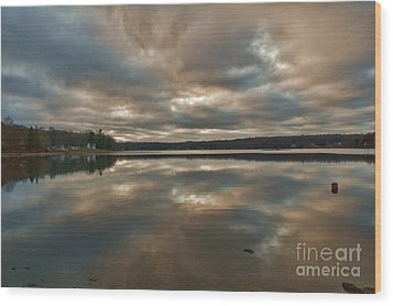 Columbia Lake Wood Print