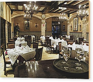 Columbia Restaurant Fine Dining Wood Print