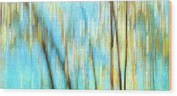 Wood Print featuring the photograph Columbia River Abstract by Theresa Tahara