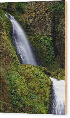 Columbia River Gorge Falls 1 Wood Print by Marty Koch