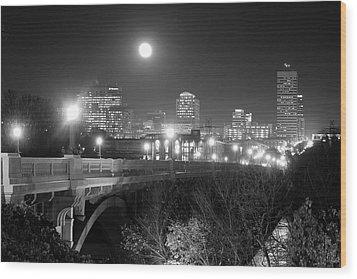 Columbia Skyline At Night Wood Print