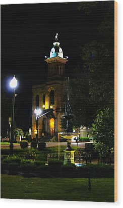Columbiana Cty Courthouse Wood Print by Michelle Joseph-Long