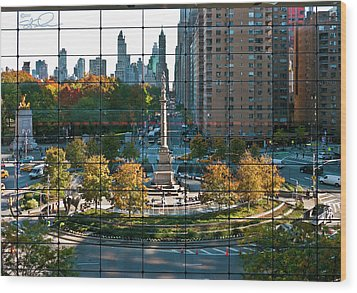 Columbus Circle Wood Print by S Paul Sahm