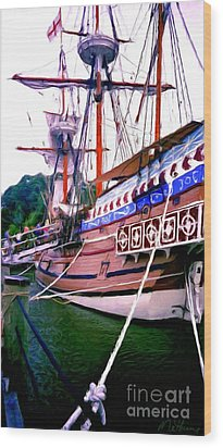 Columbus Day Celebration Wood Print by Methune Hively