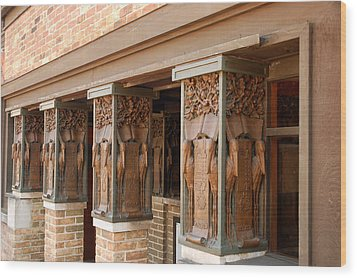 Columns At Frank Lloyd Wright Studio Wood Print