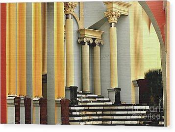 Columns At Plaza De Italia Wood Print