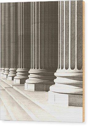 Columns Wood Print by Daniel Napoli