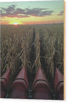 Combine Sunset V Wood Print