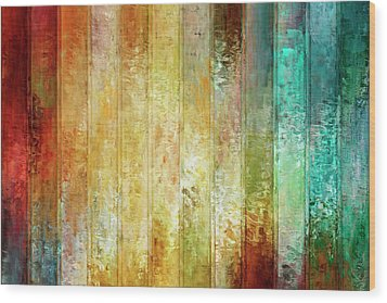 Come A Little Closer - Abstract Art Wood Print