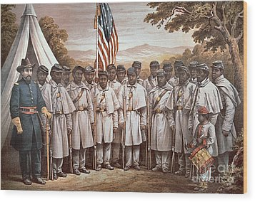'come And Join Us Brothers' Wood Print by American School