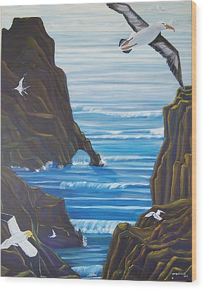 Come Fly With Us Wood Print by George Chacon
