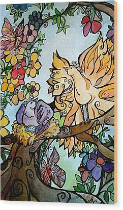 Come Grow Old With Me The Best Is Yet To Be Wood Print by Claudia Cole Meek