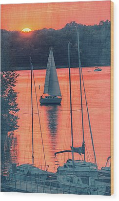 Come Sail Away Wood Print by Pamela Williams