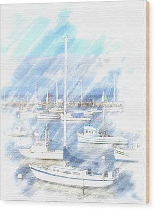 Wood Print featuring the photograph Come Sail With Me by Barbara MacPhail