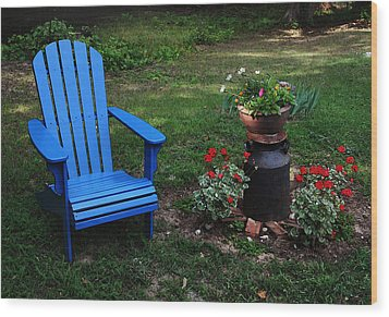 Wood Print featuring the photograph Come Sit  by Joanne Coyle