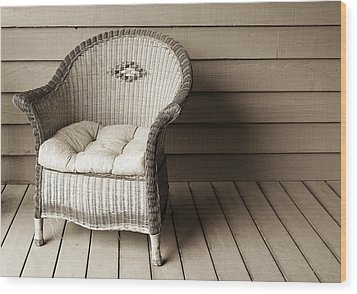 Come Sit With Me Wood Print by Marilyn Hunt