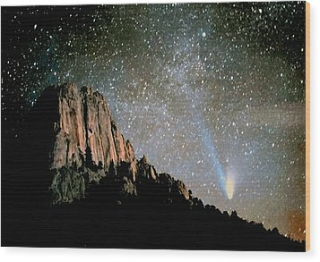 Wood Print featuring the photograph Comet Hale-bopp by Perspective Imagery