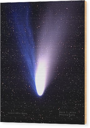 Comet Hale-bopp Wood Print by Mark Allen