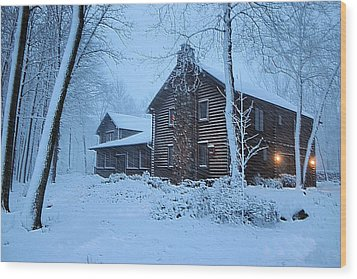 Comfort From The Cold Wood Print by Kristin Elmquist