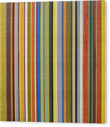 Comfortable Stripes Wood Print by Michelle Calkins