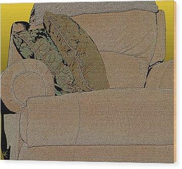 Comfy Chair Wood Print