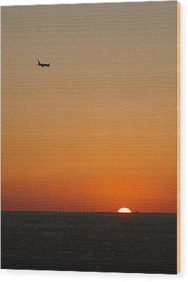 Comin' Home - Miami Wood Print by Frank Mari