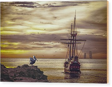 Wood Print featuring the photograph Coming Home by Diane Schuster
