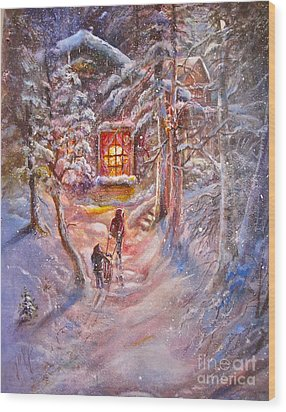 Coming Home Wood Print by Patricia Schneider Mitchell