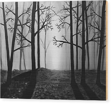 Coming Light Wood Print