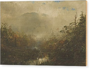 Coming Storm In The Adirondacks Wood Print by William Sonntag