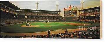 Wood Print featuring the photograph Comiskey Park  by Tom Jelen