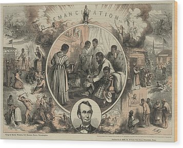 Commemoration Of The Emancipation Wood Print by Everett